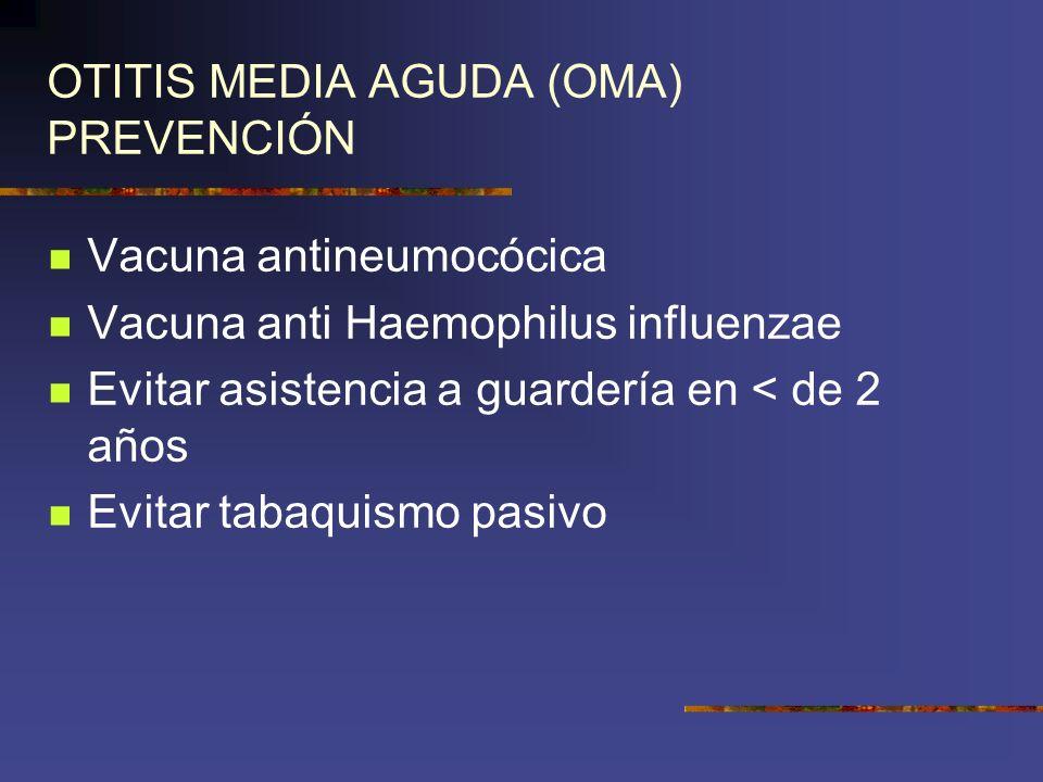 OTITIS MEDIA AGUDA (OMA) PREVENCIÓN