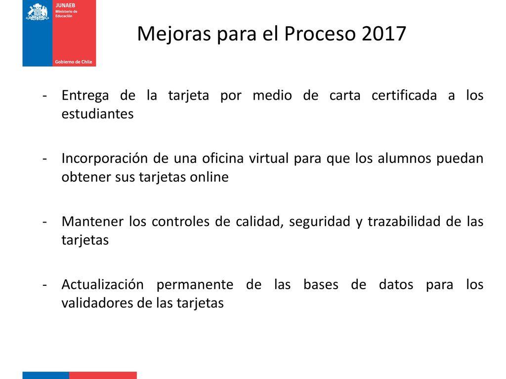 Tarjeta nacional del estudiante ppt descargar for Oficina virtual medio rural