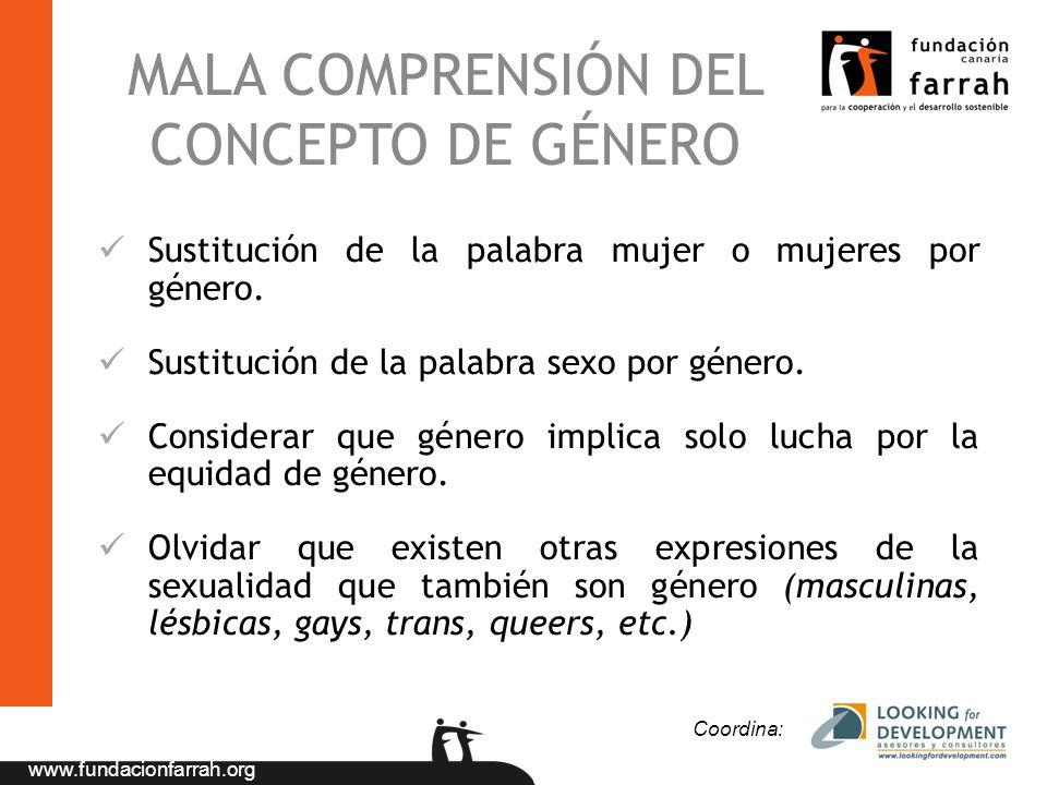 MALA COMPRENSIÓN DEL CONCEPTO DE GÉNERO