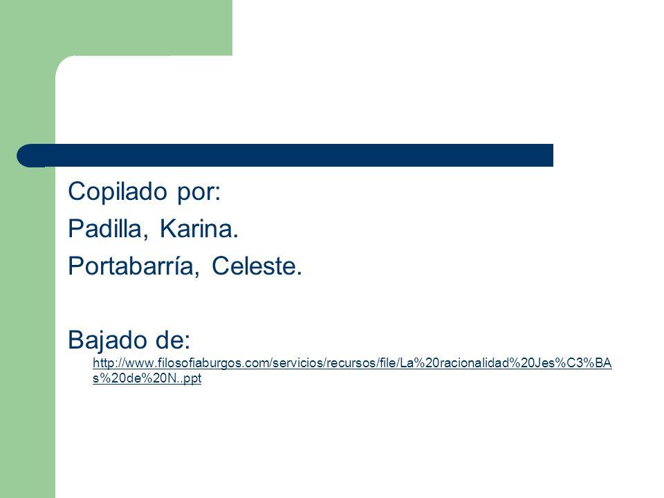 Copilado por: Padilla, Karina. Portabarría, Celeste.
