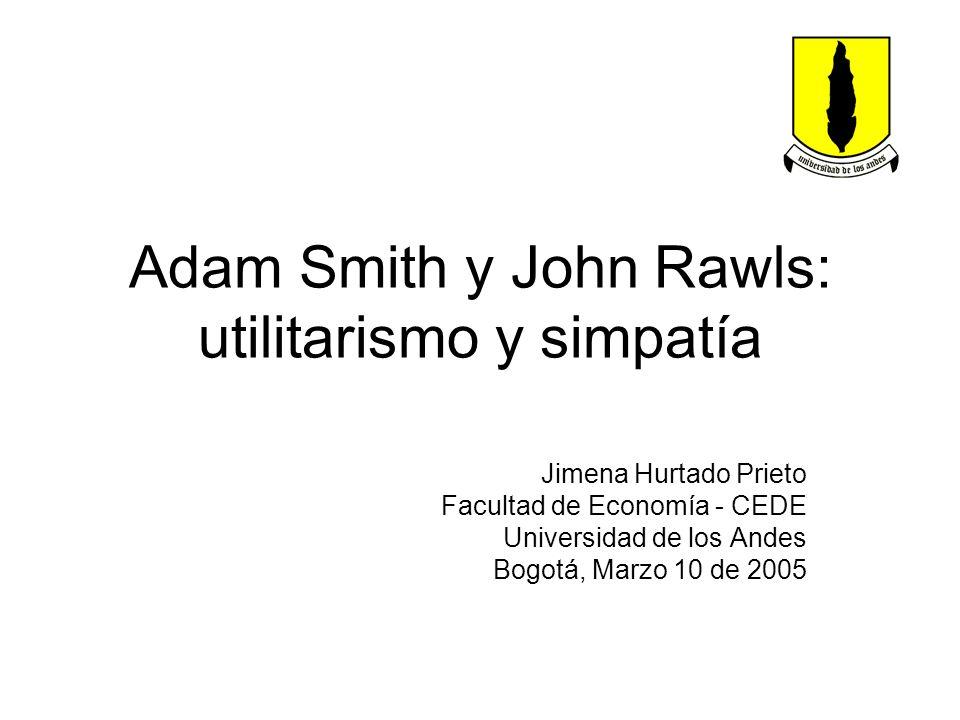 Adam Smith y John Rawls: utilitarismo y simpatía