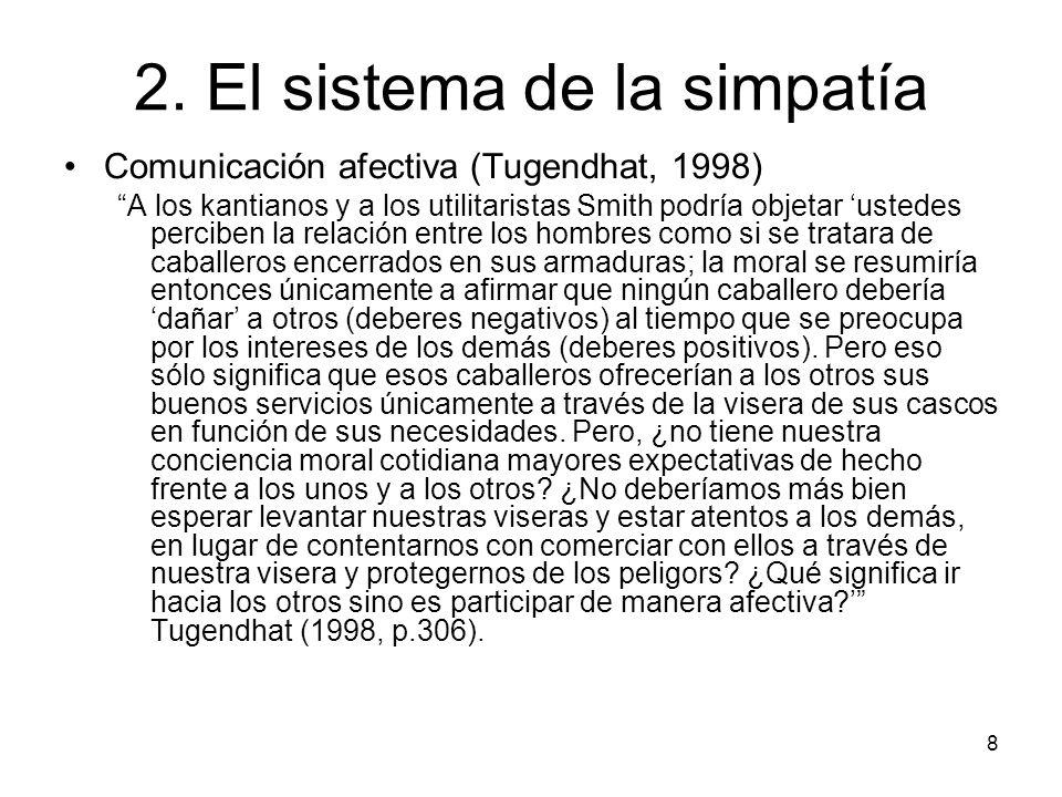2. El sistema de la simpatía