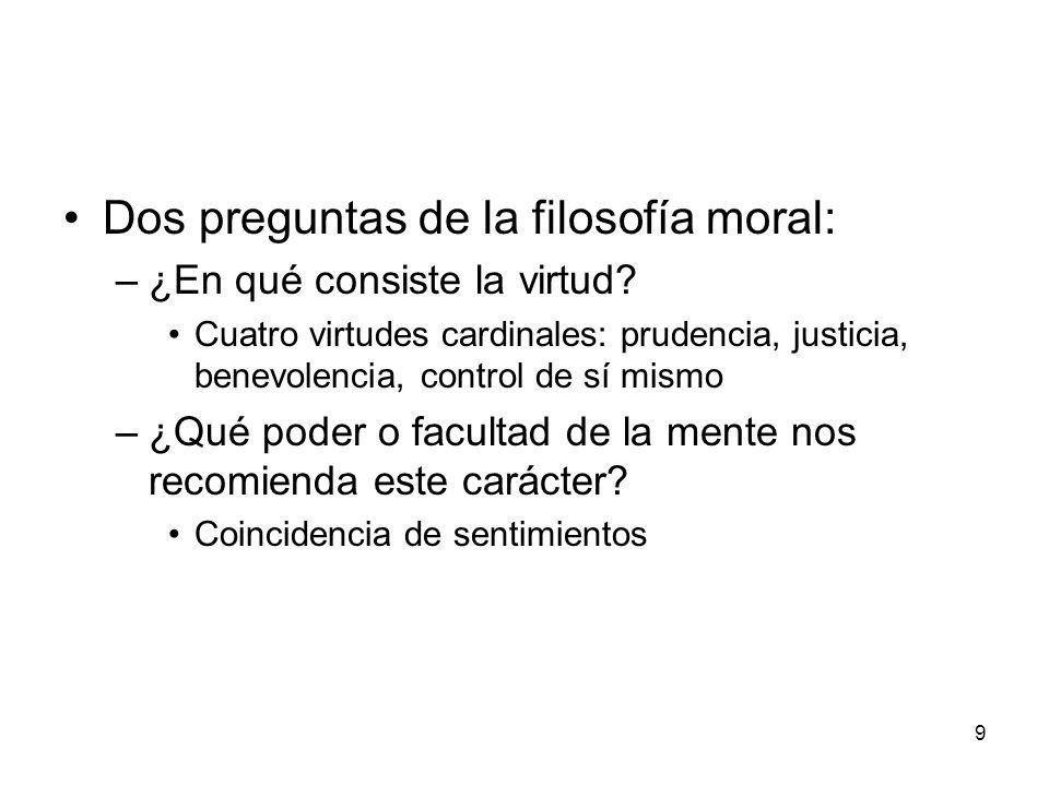 Dos preguntas de la filosofía moral: