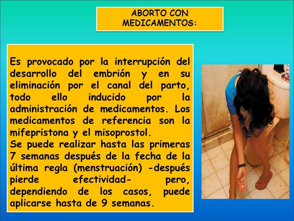 ABORTO CON MEDICAMENTOS: