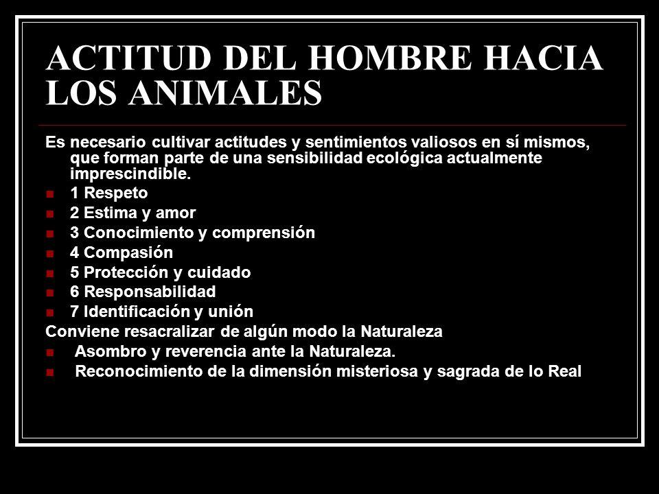 ACTITUD DEL HOMBRE HACIA LOS ANIMALES