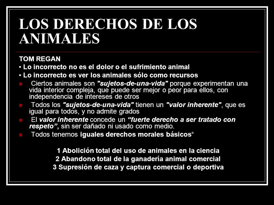 LOS DERECHOS DE LOS ANIMALES