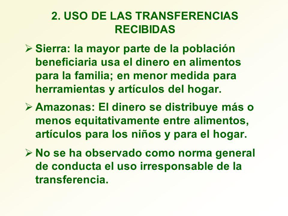 2. USO DE LAS TRANSFERENCIAS RECIBIDAS