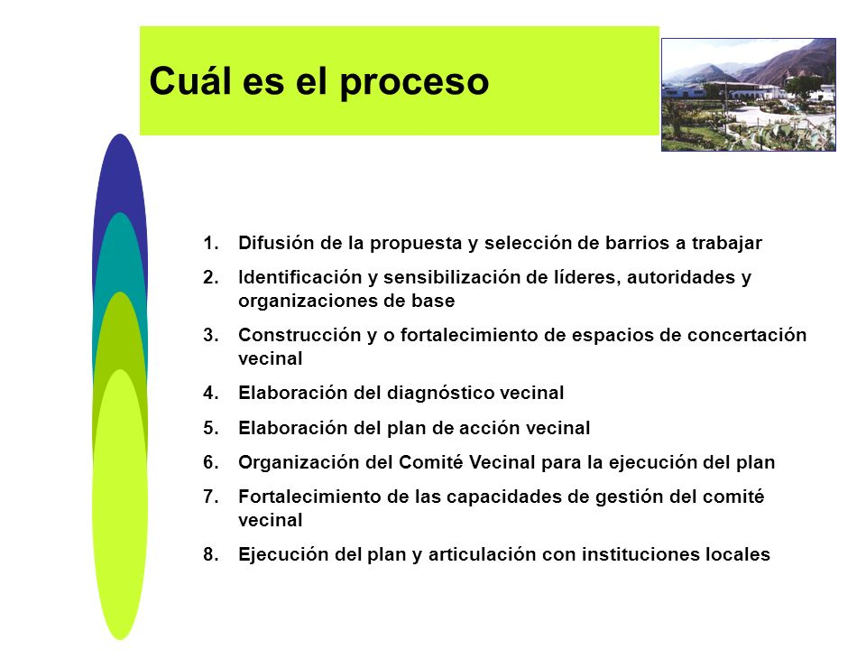 Cuál es el proceso Difusión de la propuesta y selección de barrios a trabajar.