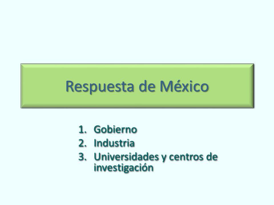 Gobierno Industria Universidades y centros de investigación