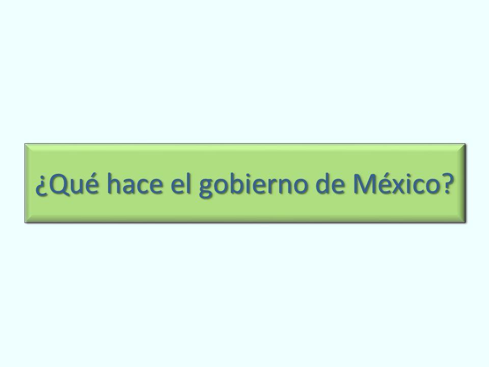 ¿Qué hace el gobierno de México