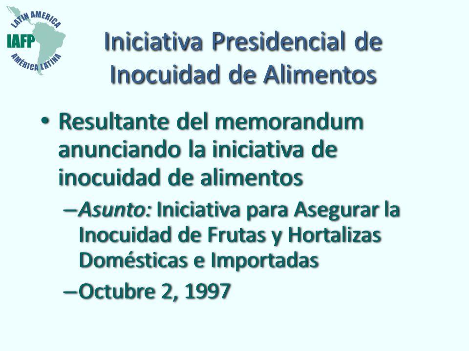 Iniciativa Presidencial de Inocuidad de Alimentos
