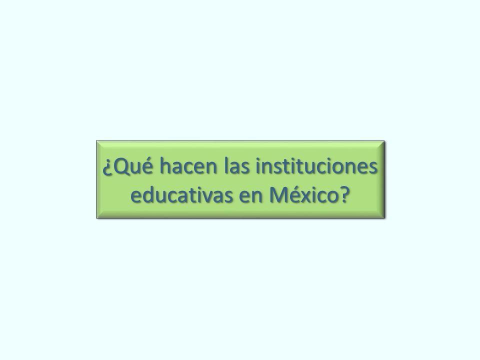 ¿Qué hacen las instituciones educativas en México