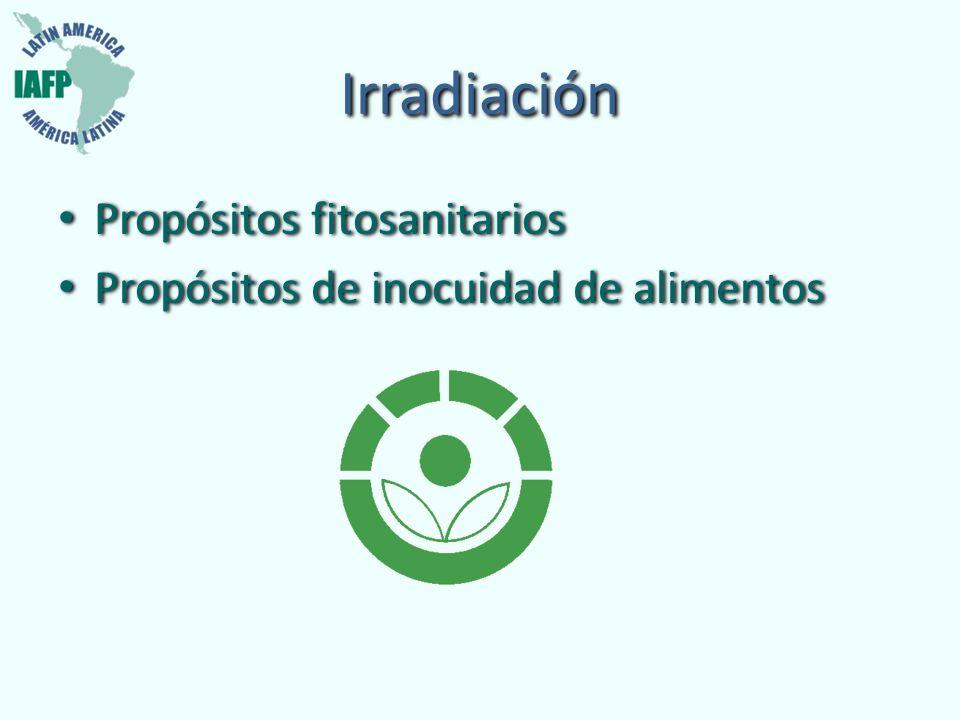 Irradiación Propósitos fitosanitarios