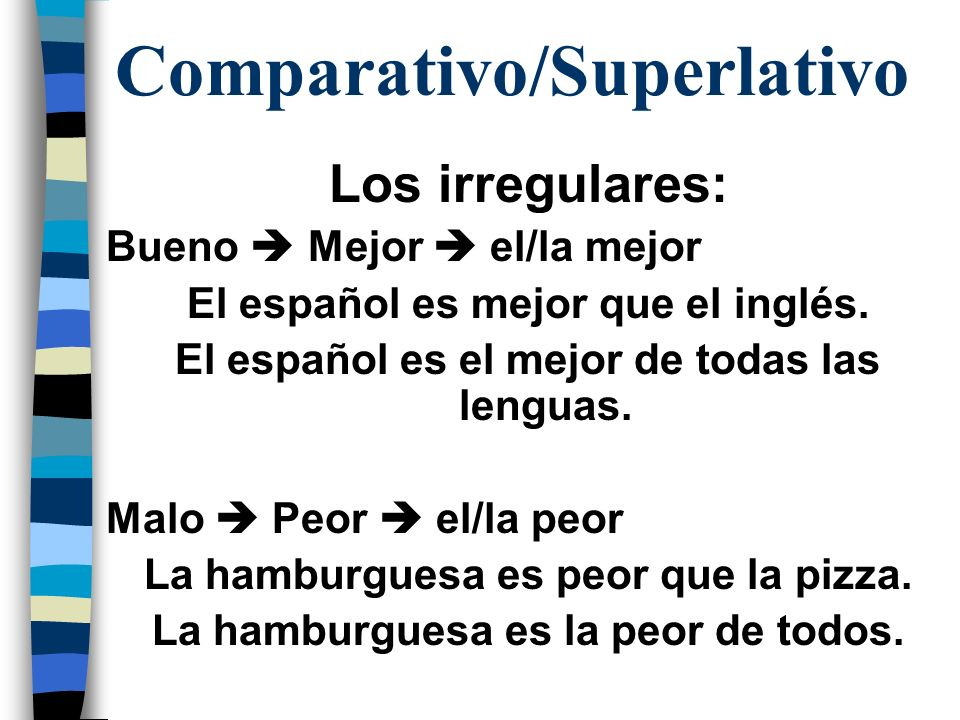 Comparativo/Superlativo