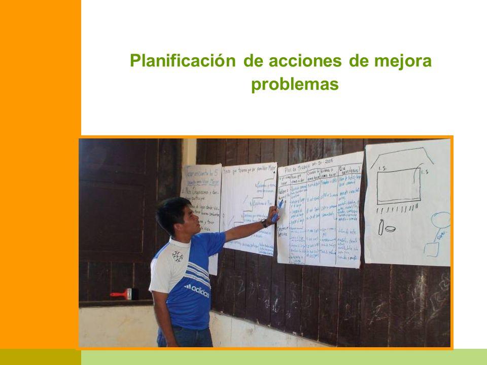 Planificación de acciones de mejora problemas