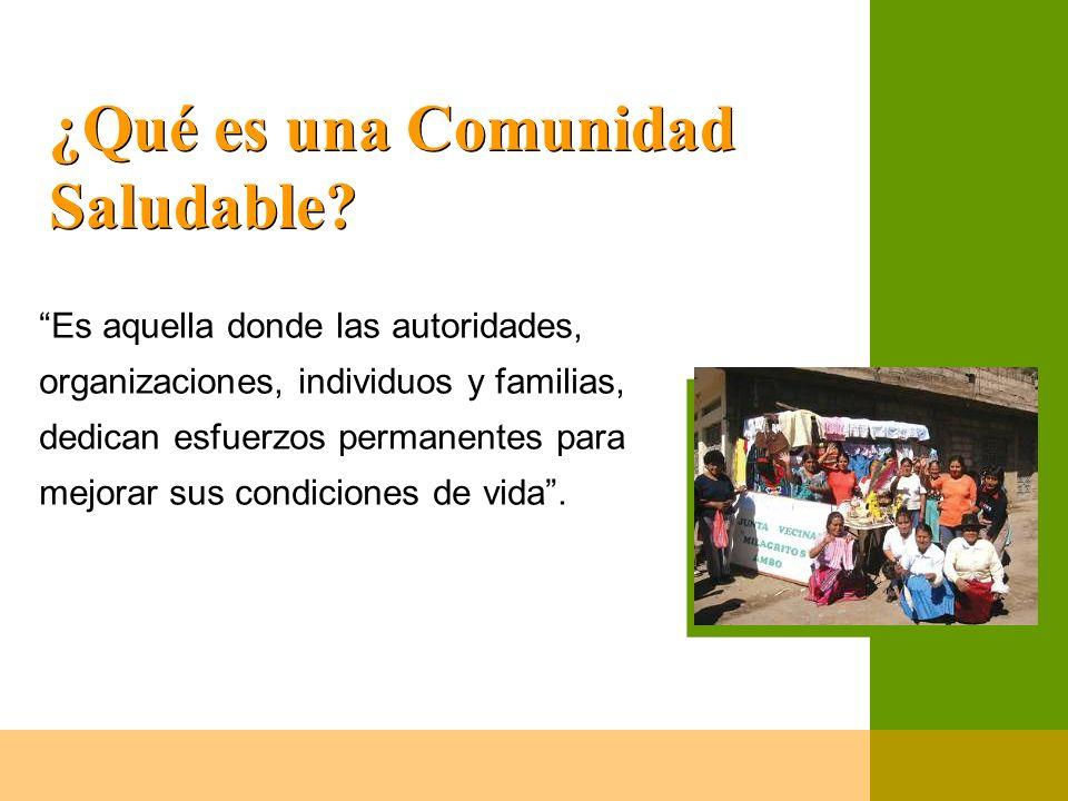 ¿Qué es una Comunidad Saludable