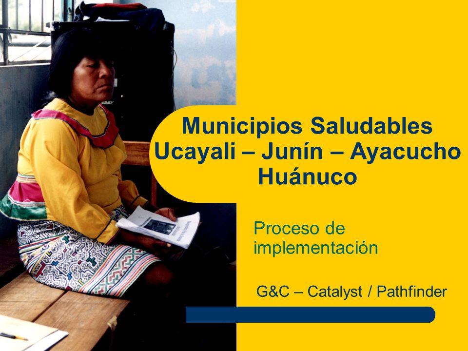 Municipios Saludables Ucayali – Junín – Ayacucho Huánuco
