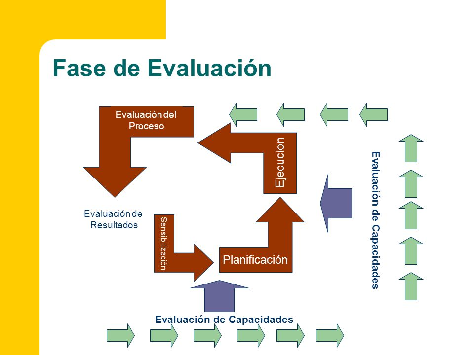 Fase de Evaluación Ejecucion Planificación Evaluación de Capacidades
