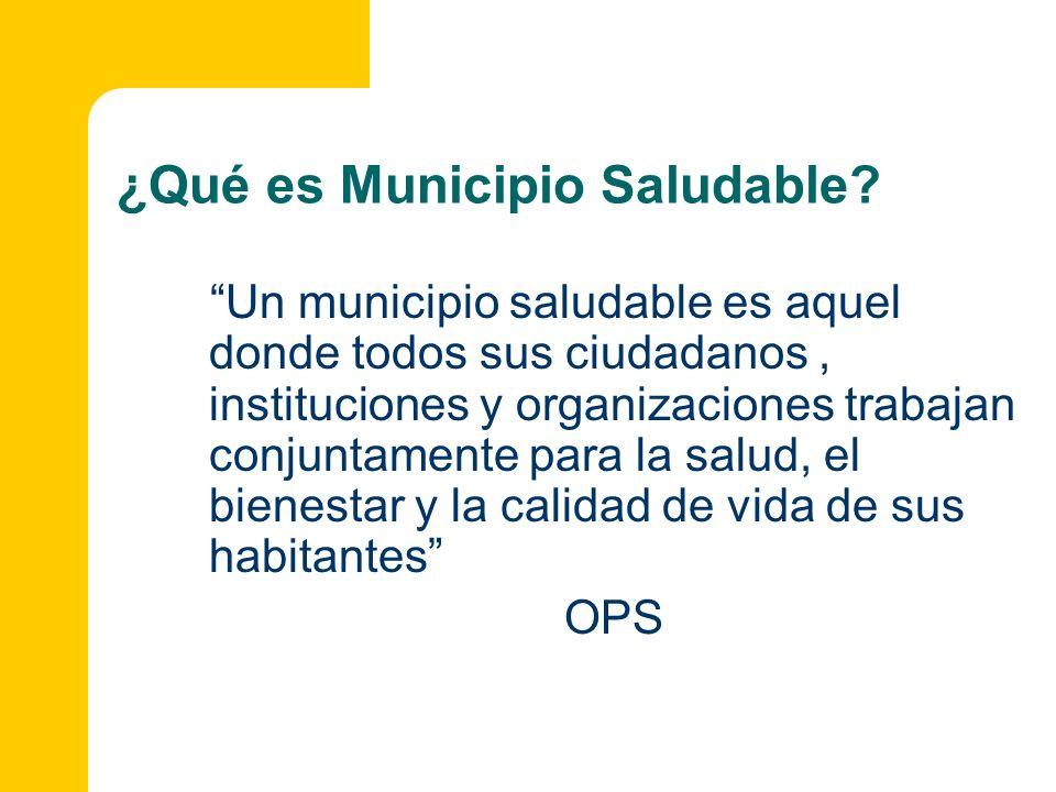 ¿Qué es Municipio Saludable