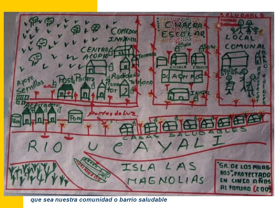 3. Construcción de la visión de Comunidad - Barrio Saludable.
