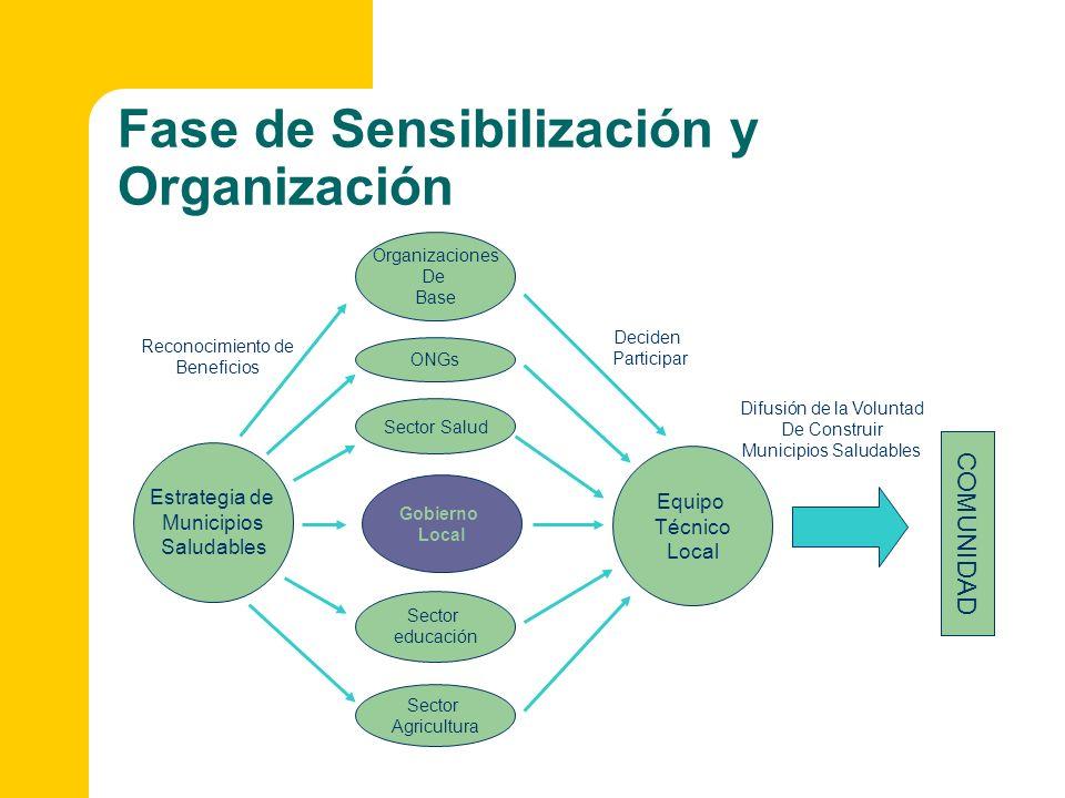 Fase de Sensibilización y Organización