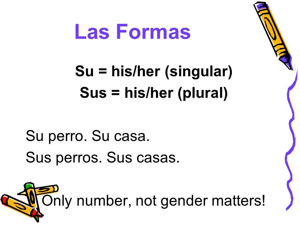 Su = his/her (singular)