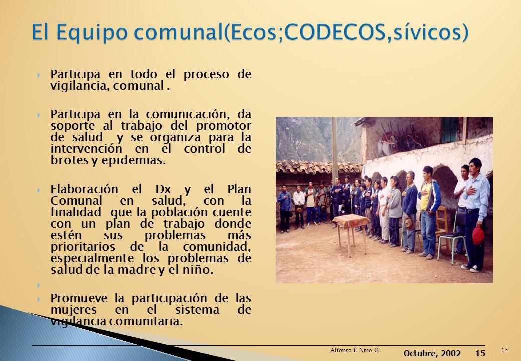 El Equipo comunal(Ecos;CODECOS,sívicos)