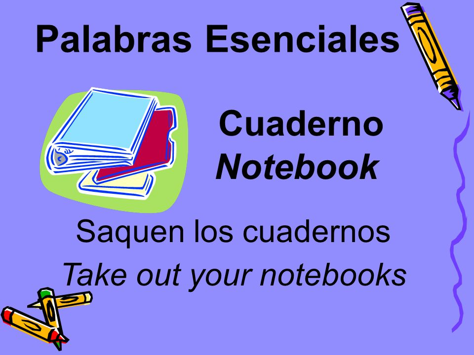 Take out your notebooks