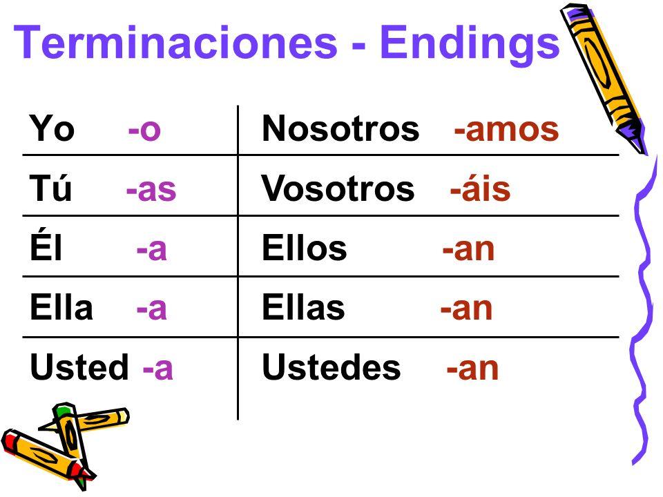 Terminaciones - Endings