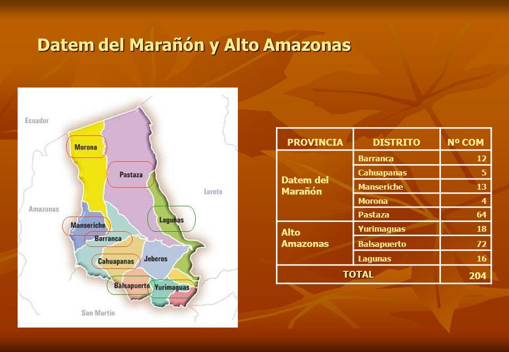 Datem del Marañón y Alto Amazonas