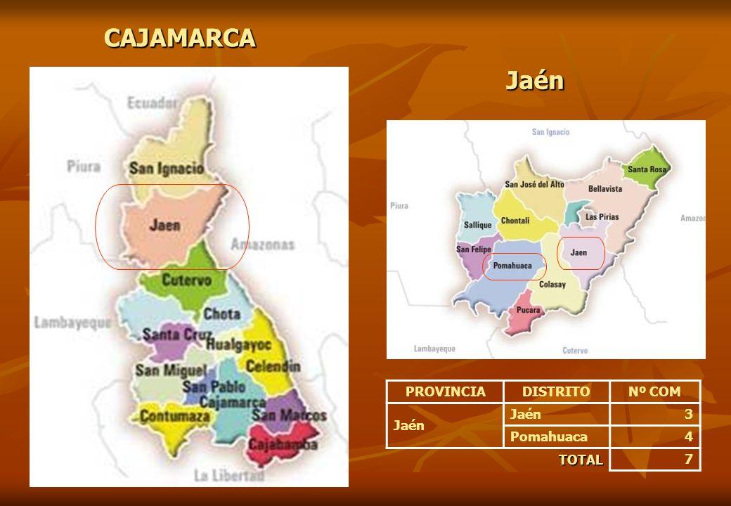 CAJAMARCA CAJAMARCA Jaén Jaén