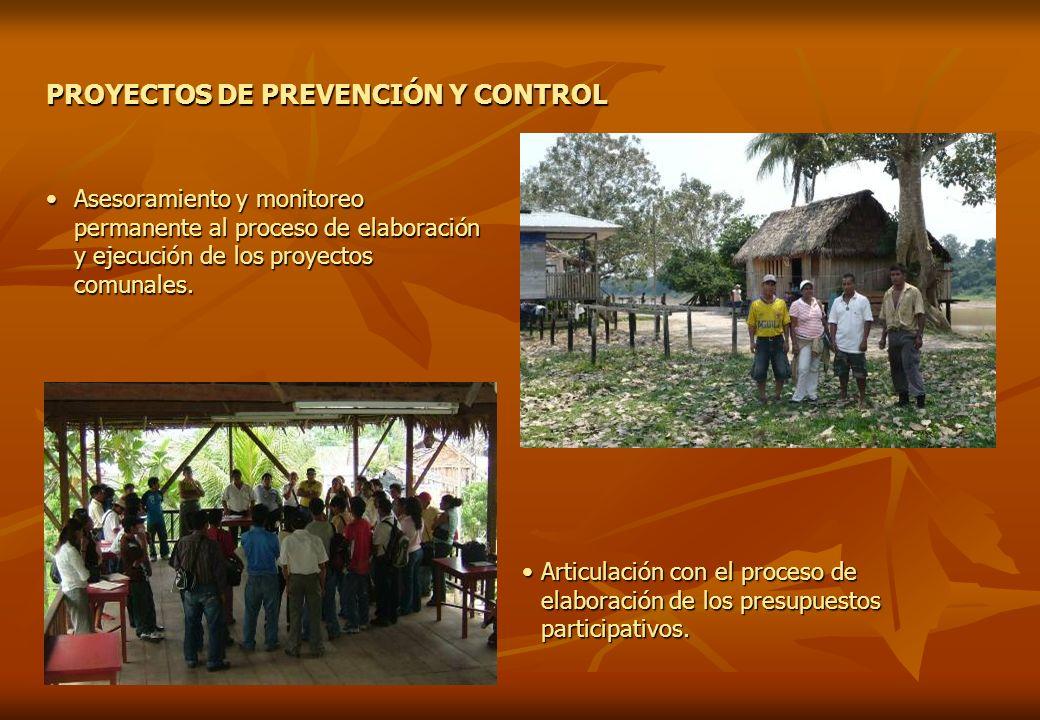 PROYECTOS DE PREVENCIÓN Y CONTROL