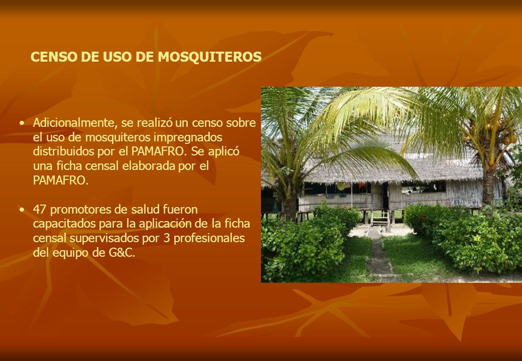 CENSO DE USO DE MOSQUITEROS