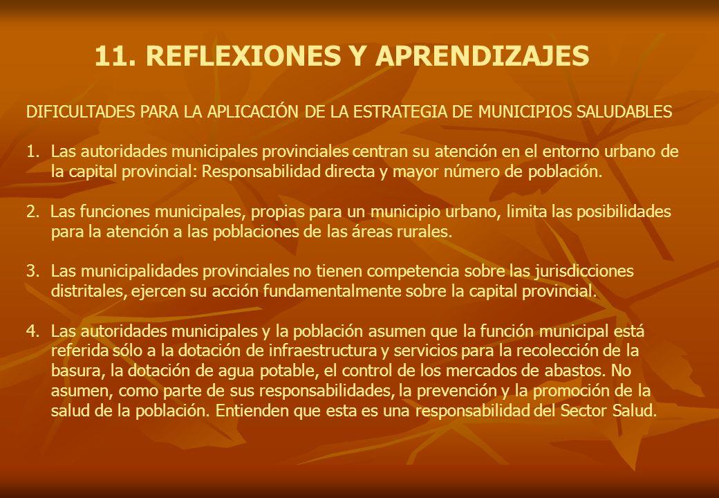 11. REFLEXIONES Y APRENDIZAJES