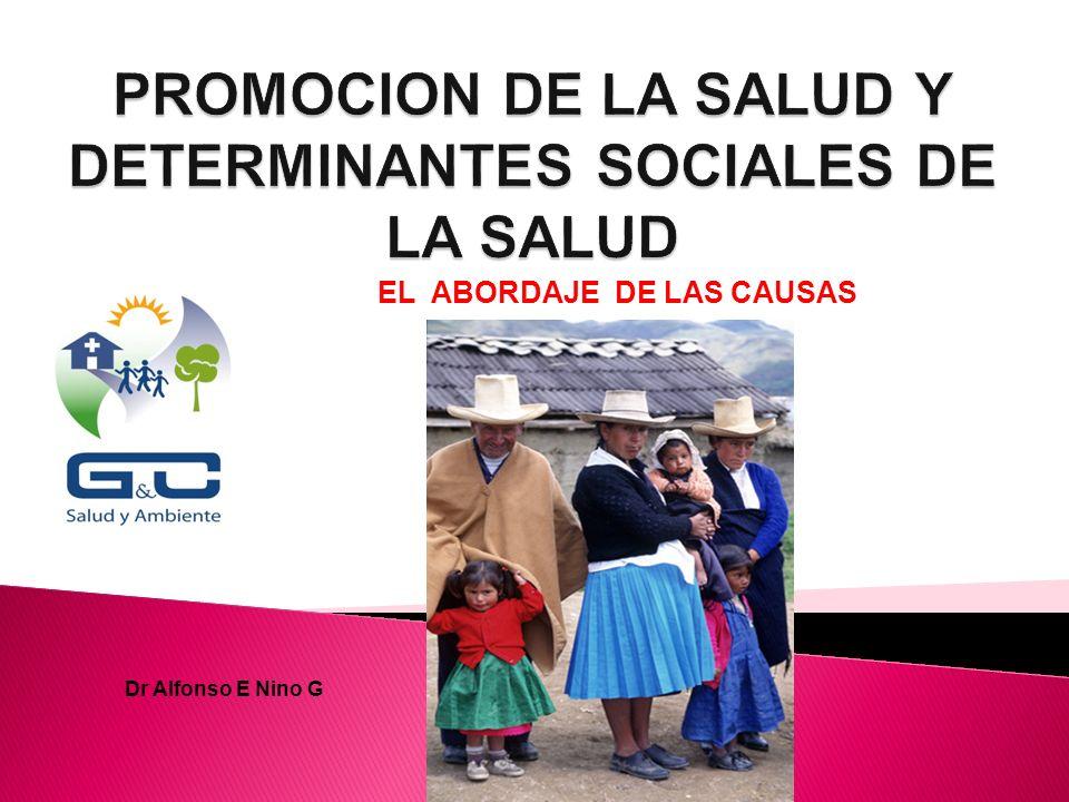 PROMOCION DE LA SALUD Y DETERMINANTES SOCIALES DE LA SALUD