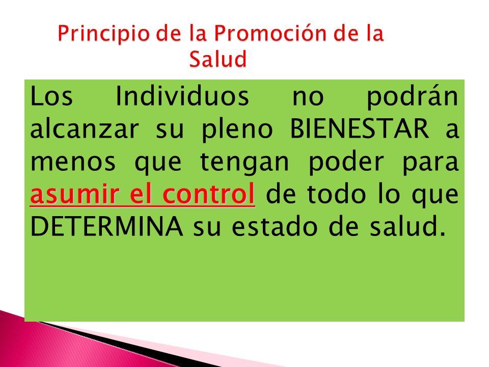 Principio de la Promoción de la Salud
