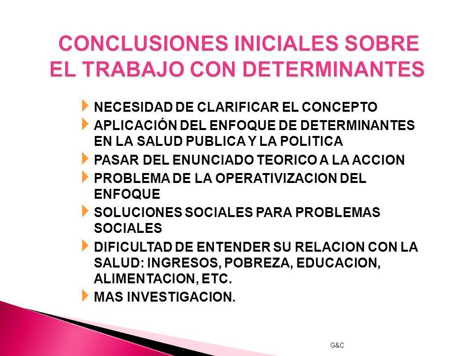 CONCLUSIONES INICIALES SOBRE EL TRABAJO CON DETERMINANTES
