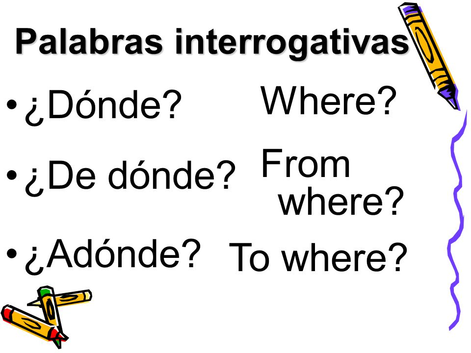 Palabras interrogativas