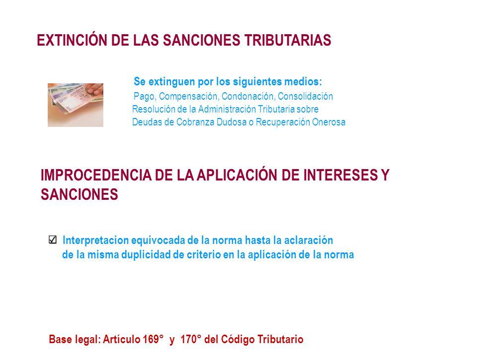 EXTINCIÓN DE LAS SANCIONES TRIBUTARIAS