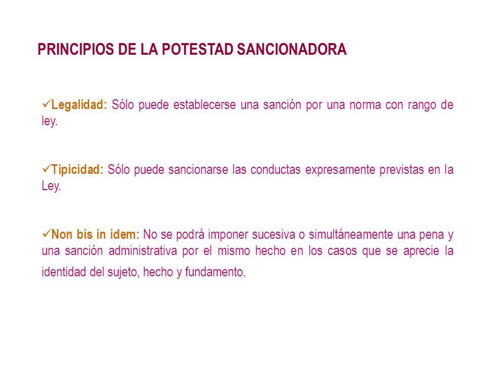 PRINCIPIOS DE LA POTESTAD SANCIONADORA