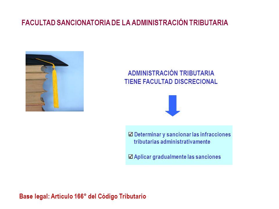 ADMINISTRACIÓN TRIBUTARIA TIENE FACULTAD DISCRECIONAL
