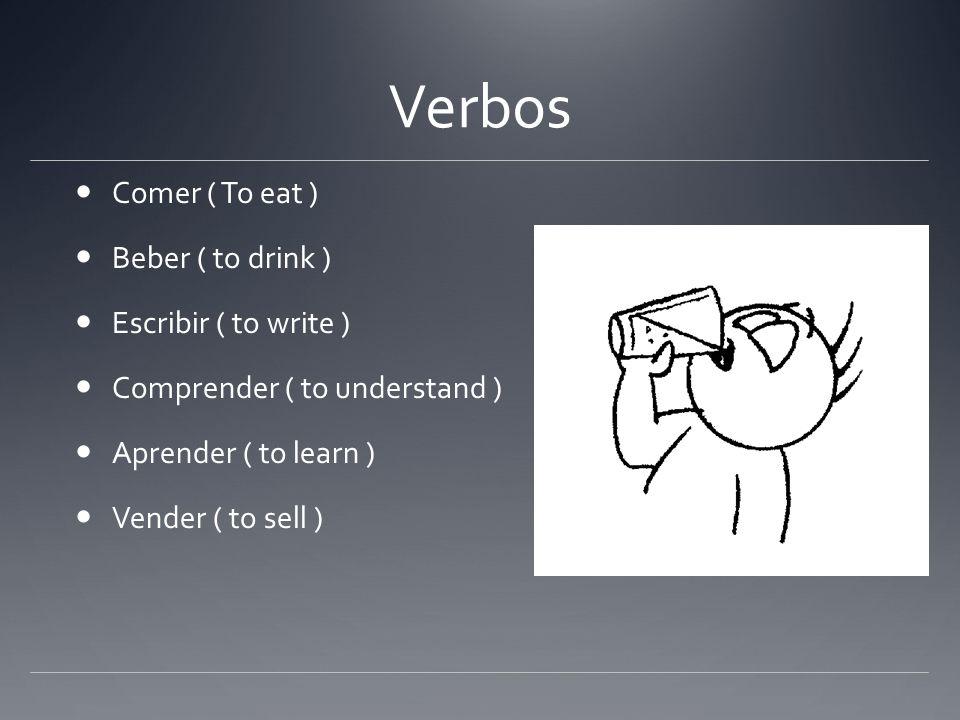 Verbos Comer ( To eat ) Beber ( to drink ) Escribir ( to write )