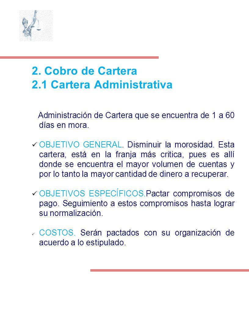 2.1 Cartera Administrativa