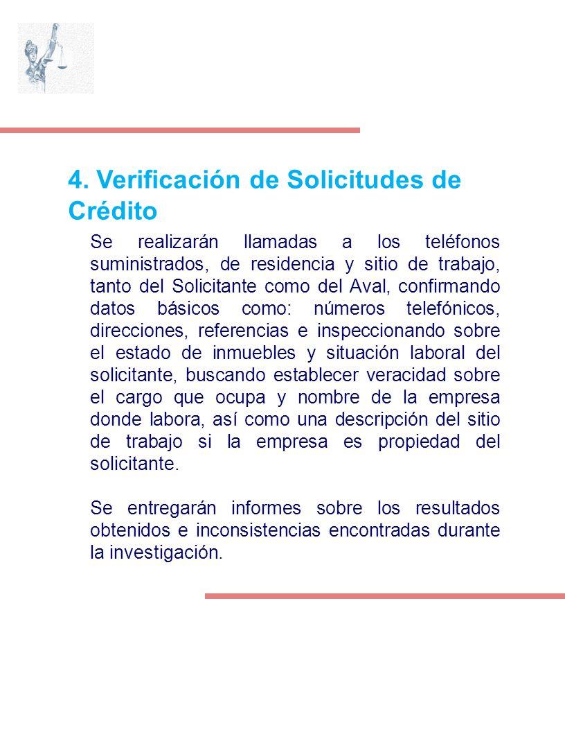 4. Verificación de Solicitudes de Crédito