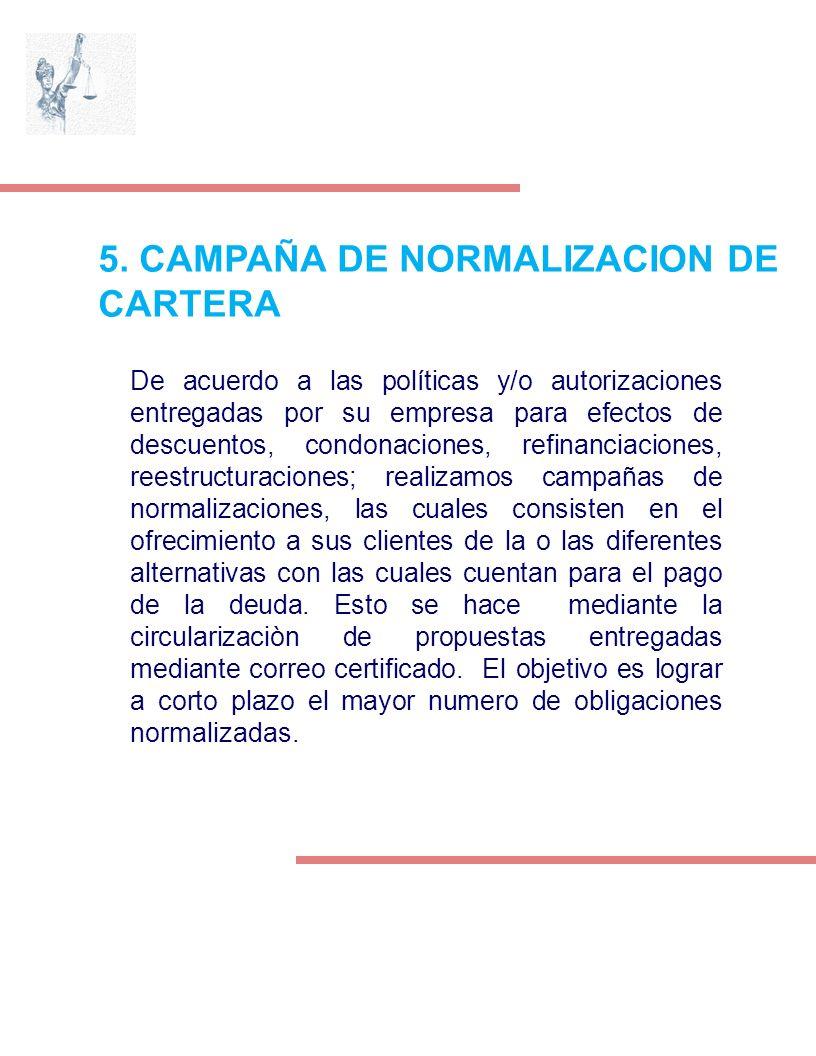 5. CAMPAÑA DE NORMALIZACION DE CARTERA