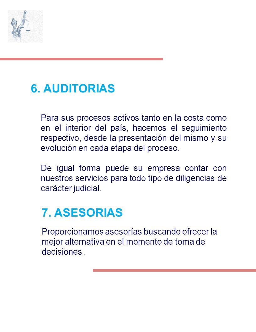 6. AUDITORIAS