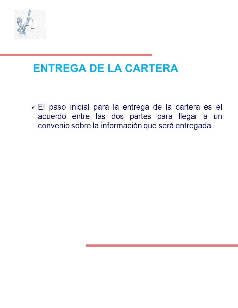 ENTREGA DE LA CARTERA