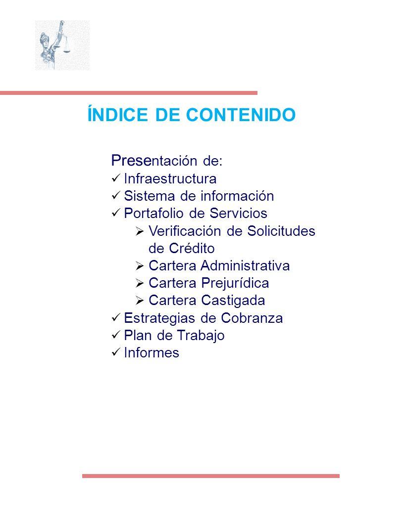 ÍNDICE DE CONTENIDO Presentación de: Infraestructura