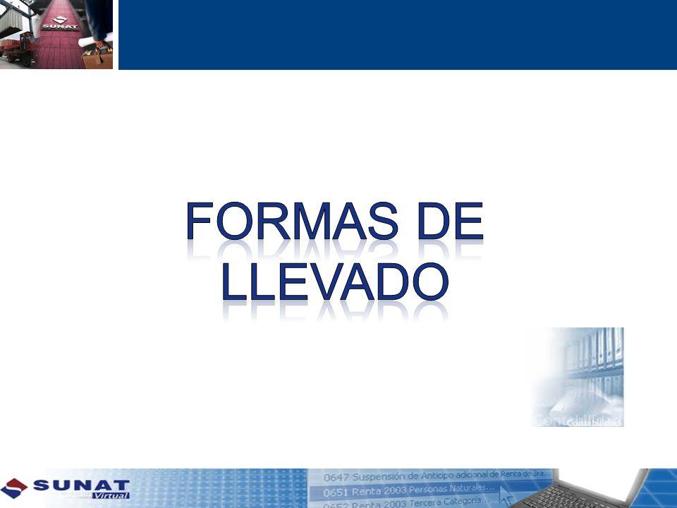 FORMAS DE LLEVADO 18