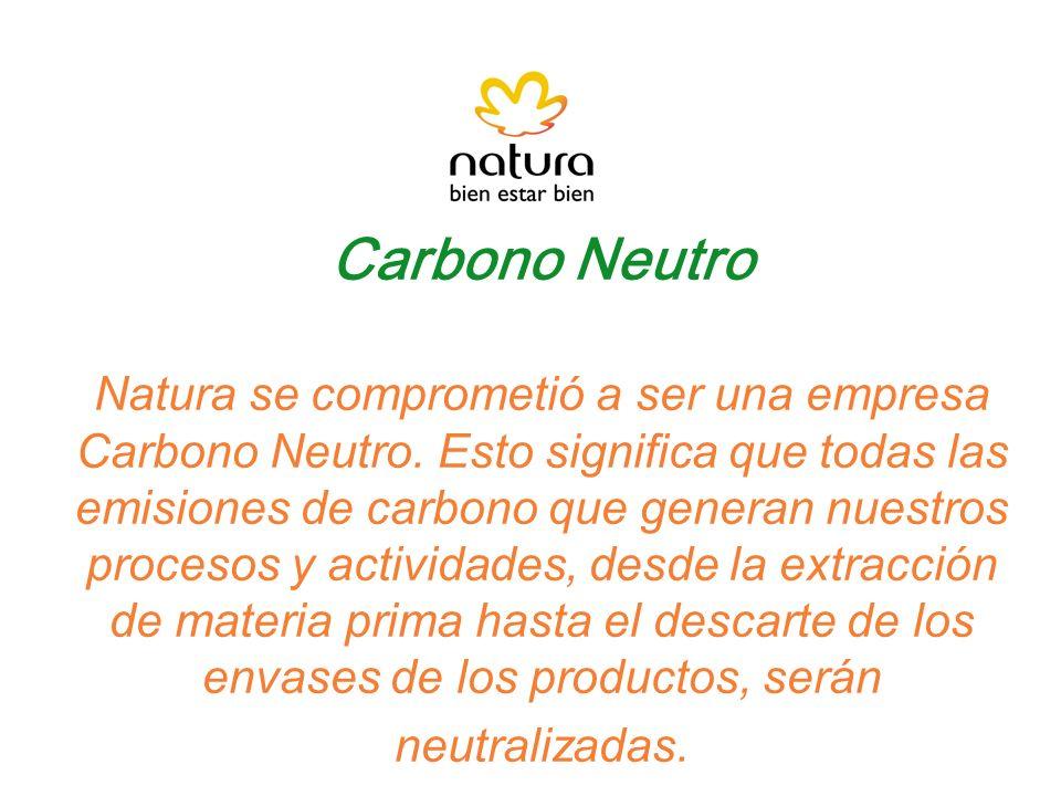 Carbono Neutro Natura se comprometió a ser una empresa Carbono Neutro
